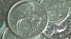 Kolikot, Kanada, Kanadan, Money, Valuutta Arkistovideo