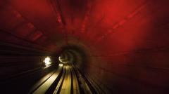 Mysterious tunnel KL monorail underground Stock Footage