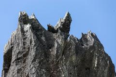 Sharp limestone Stock Photos