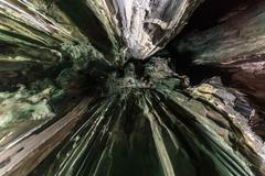 Natural cave abstract Stock Photos