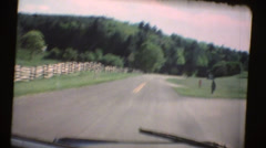 60's  vintage, Driving the Blue Ridge mountains Stock Footage