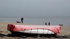 Dunwich Shingle Beach, Suffolk, England, United Kingdom Stock Footage