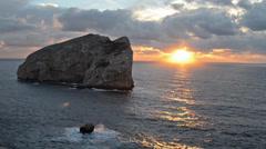 Capo Caccia sunset Stock Footage
