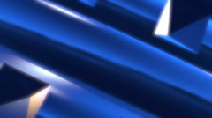 Chrome colored metalic blue background Stock Footage