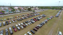 Aerial Miami dade county youth fair Stock Footage