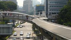 Time Lapse Malaysia Downtown Kuala Lumpur KL elevated Walkway Stock Footage