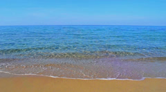 Clear water and blue sky Stock Footage