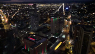 Stock Video Footage of Aerial View of City, Night Time