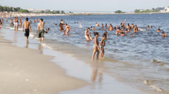 People on the beach - Rio de Janeiro - Brazil Stock Footage