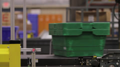 Stock Video Footage of Products on Conveyor Belt - Crossing Paths