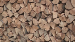 Stacked firewood Stock Footage