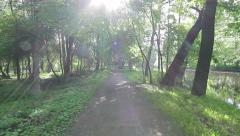 Park pathway Stock Footage