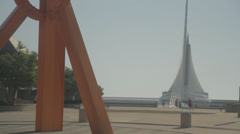 The Calling - Orange Starburst and Milwaukee Art Museum - stock footage