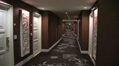 Empty Hallway Wynn Hotel in Vegas Stock Footage