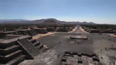 Ancient Mayan city pyramids Teotihuacan - stock footage