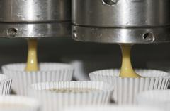 Cupcake manufacture Stock Photos