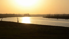 A sunset River Stock Footage