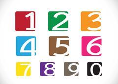sketch numbers and mathematics symbols - stock illustration