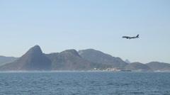 A plane landing (Santos Dumont Airport) - Rio de Janeiro - Brazil Stock Footage