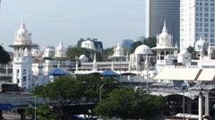 Kuala Lumpur National Mosque Masjid Negara and Traffic Malaysia Asia Stock Footage