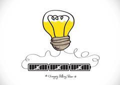 Stock Illustration of light bulb charging battery power idea design