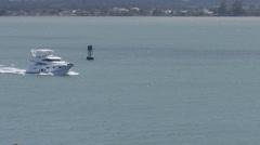 Motor luxury yacht 1 Stock Footage