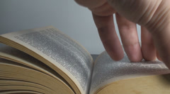 Man Putting A Book Sign Point Of View Stock Footage