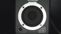 Turning Up The Volume On A Speaker, Bass, Reflex, Music Point Of View Stock Footage