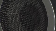 Bass Test On A Speaker Music, Reflex, Bass, Close-Up Stock Footage