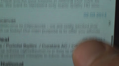 Young Man Browsing Email In Landscape Mode Point Of View Stock Footage