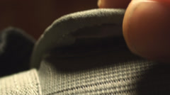 Close Up Of Velcro From Some Gym Gloves Stock Footage