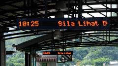 Rapid KL metro subway Station information panel Kuala Lumpur Malaysia Stock Footage