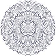 circle floral ornament - stock illustration