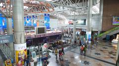 KL Sentral Station main Hall Kuala Lumpur Malaysia Stock Footage
