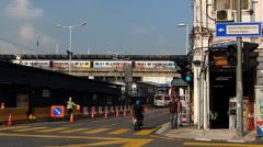 Rapid KL metro subway Train Chinatown Kuala Lumpur Malaysia Stock Footage