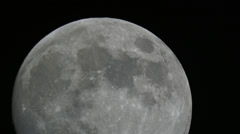 Full moon transit closeup HD Stock Footage