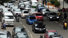 Time Lapse Rush hour Busy Bustle Malaysia Downtown Kuala Lumpur KL Traffic Stock Footage
