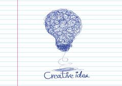 concept of idea inspired bulb shape - stock illustration