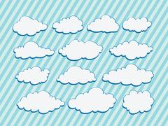 design of clouds  illustration - stock illustration