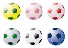 Colourful soccer balls Stock Illustration