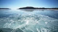 On ice to the islands Stock Footage