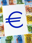 Money EURO and sign - stock photo