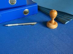 Blue office Stock Photos