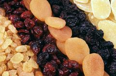 Dried fruits - background Stock Photos
