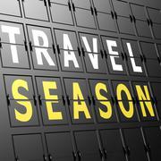 Stock Illustration of airport display travel season