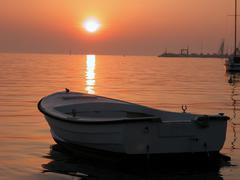 Anchored Boat, Croatia, May 2003 - stock photo