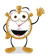 Funny stop watch Stock Illustration