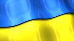 3D flag, Ukraine, waving, ripple, Europe. Stock Footage