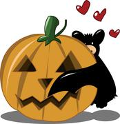 Bat in love Stock Illustration