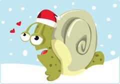 Christmas snail Stock Illustration